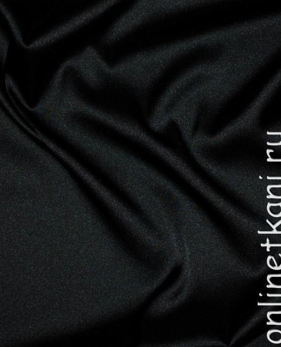 """Ткань Шелк Атлас """"Черный"""" 012 цвет черный картинка"""