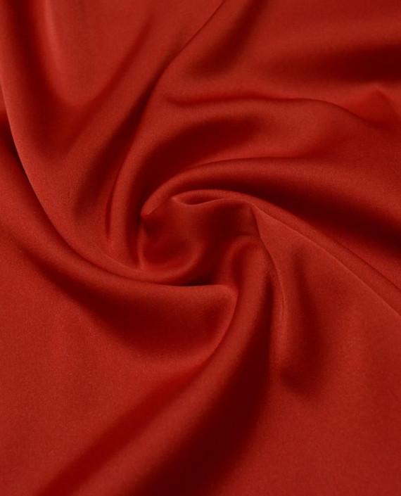 """Ткань Шелк Атлас """"Алый"""" 014 цвет красный картинка"""