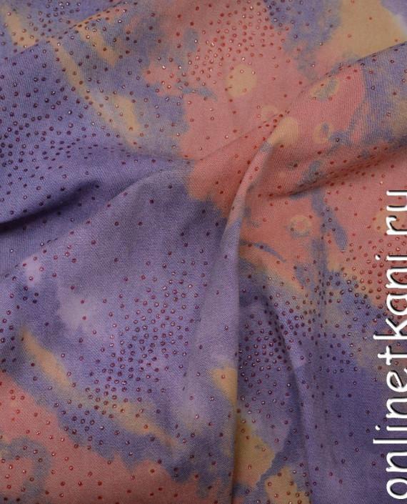 Ткань Джинс 117 цвет разноцветный абстрактный картинка