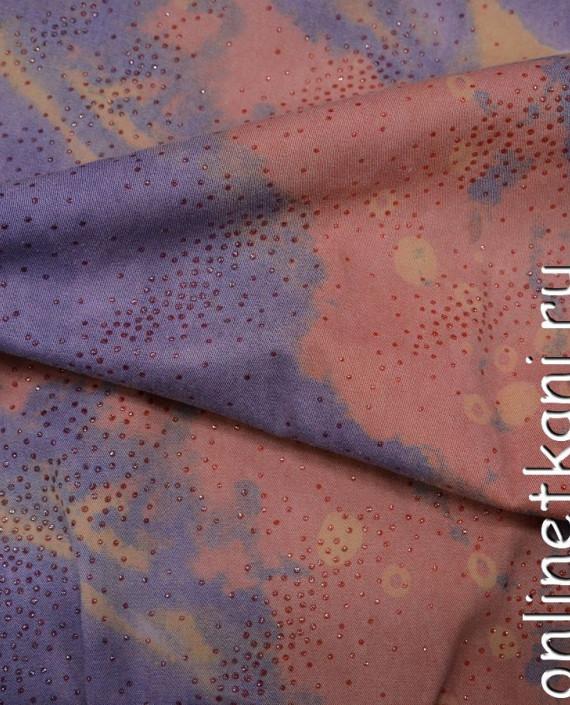 Ткань Джинс 117 цвет разноцветный абстрактный картинка 2