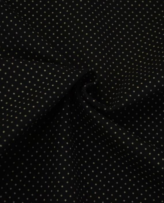 Ткань Джинс в Горошек 866 цвет черный крупа картинка