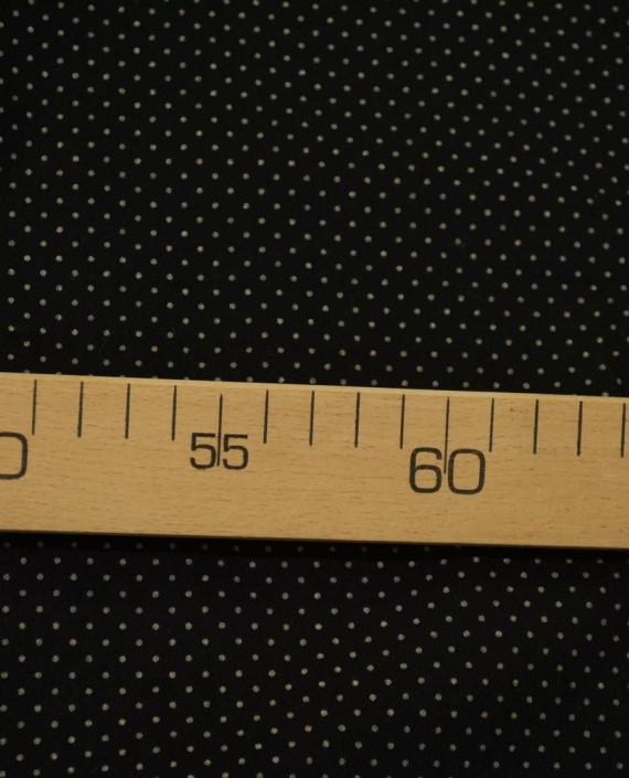 Ткань Джинс в Горошек 866 цвет черный крупа картинка 1