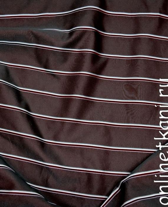 Ткань Жаккард 0027 цвет коричневый в полоску картинка