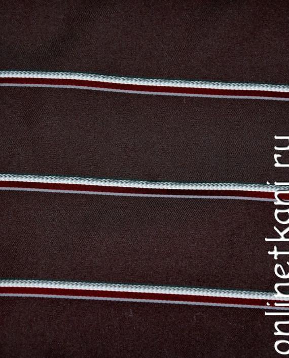 Ткань Жаккард 0027 цвет коричневый в полоску картинка 2