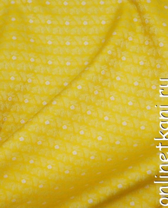 Ткань Жаккард 0045 цвет желтый геометрический картинка
