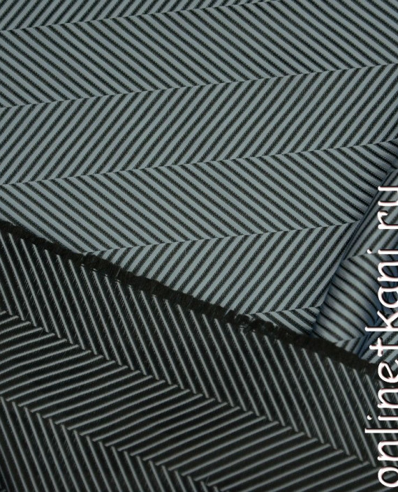Ткань Жаккард 0053 цвет черный геометрический картинка