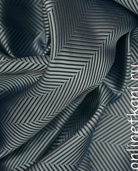 Ткань Жаккард 0053 цвет черный геометрический картинка 1