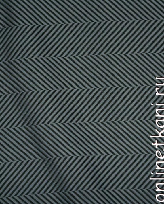 Ткань Жаккард 0053 цвет черный геометрический картинка 2