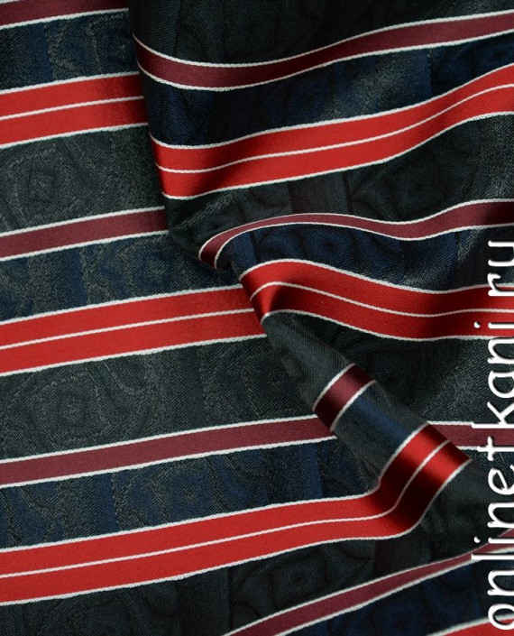 Ткань Жаккард 0059 цвет черный в полоску картинка