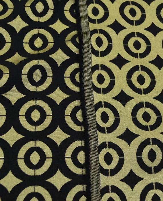 Ткань Жаккард Хлопковый 0190 цвет золотой геометрический картинка
