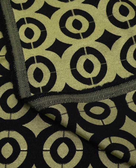 Ткань Жаккард Хлопковый 0190 цвет золотой геометрический картинка 1