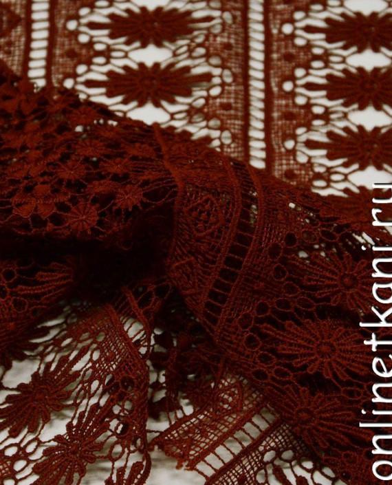 Ткань Гипюр 242 цвет красный абстрактный картинка 1