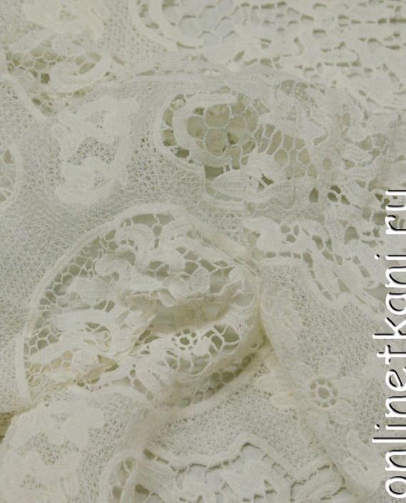 Ткань Гипюр 246 цвет белый абстрактный картинка 1