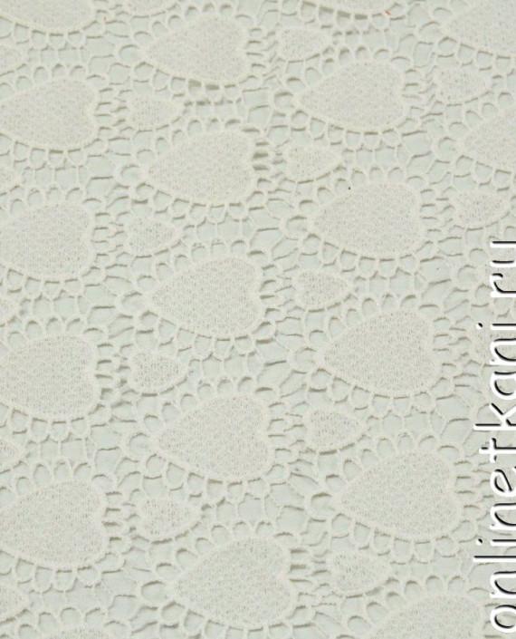 Ткань Гипюр 266 цвет айвори геометрический картинка
