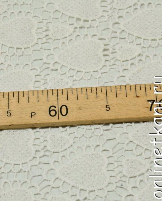Ткань Гипюр 266 цвет айвори геометрический картинка 1