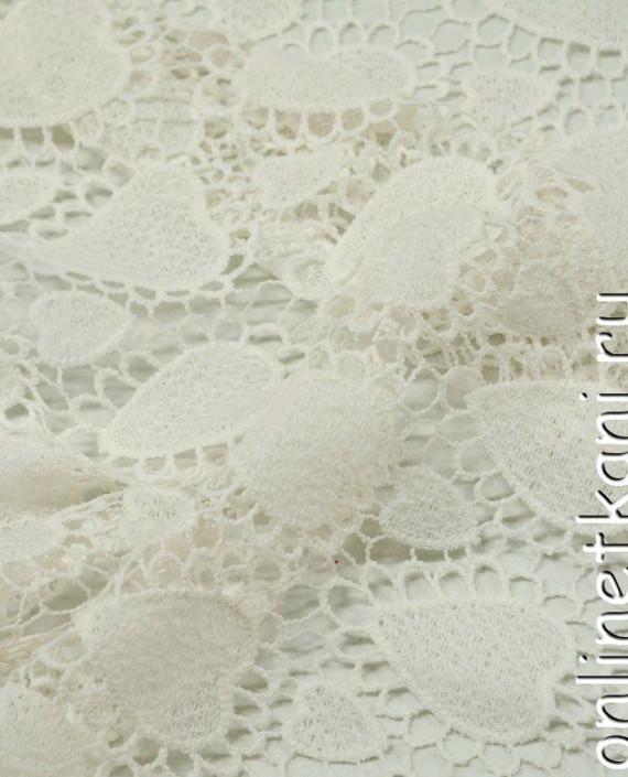 Ткань Гипюр 266 цвет айвори геометрический картинка 2