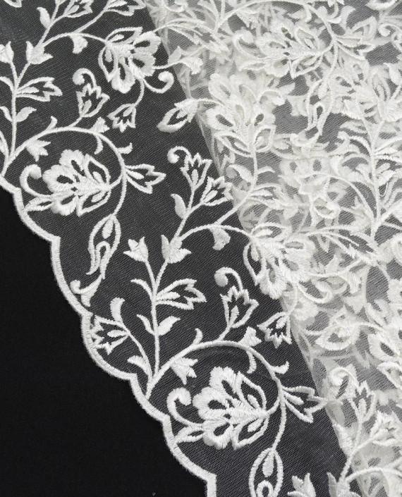 Кружево 574 цвет белый цветочный картинка 1