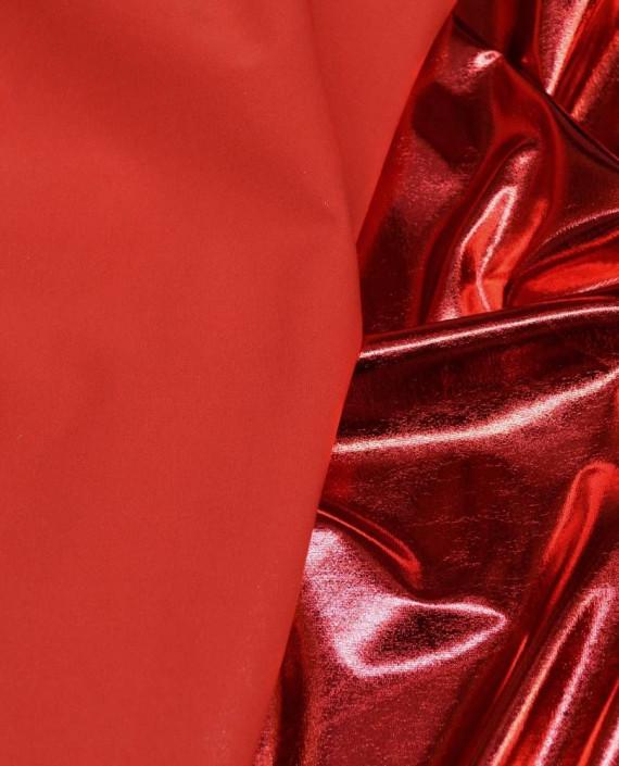 Ткань Голограмма 050 цвет красный картинка 2