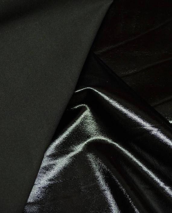 Ткань Голограмма 055 цвет черный картинка 1