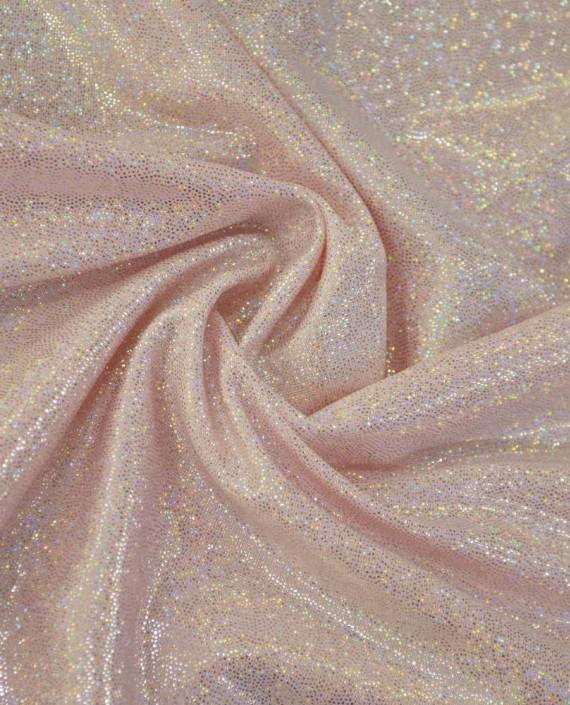 Ткань Голограмма 066 цвет розовый картинка