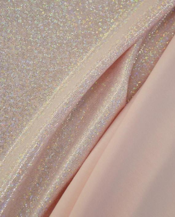 Ткань Голограмма 066 цвет розовый картинка 1