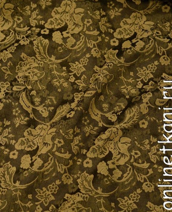 Ткань Костюмная 0879 цвет коричневый цветочный картинка
