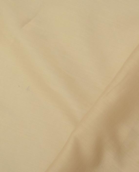 Ткань Хлопок Рубашечный 1472 цвет бежевый картинка 2