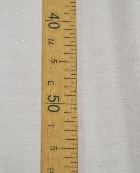 Ткань Хлопок Рубашечный 1497 цвет белый в полоску картинка 2