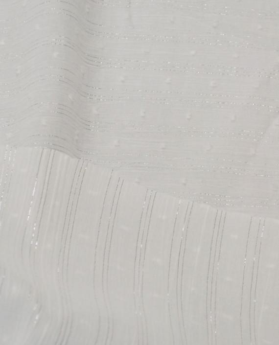 Ткань Хлопок Рубашечный 1497 цвет белый в полоску картинка 1
