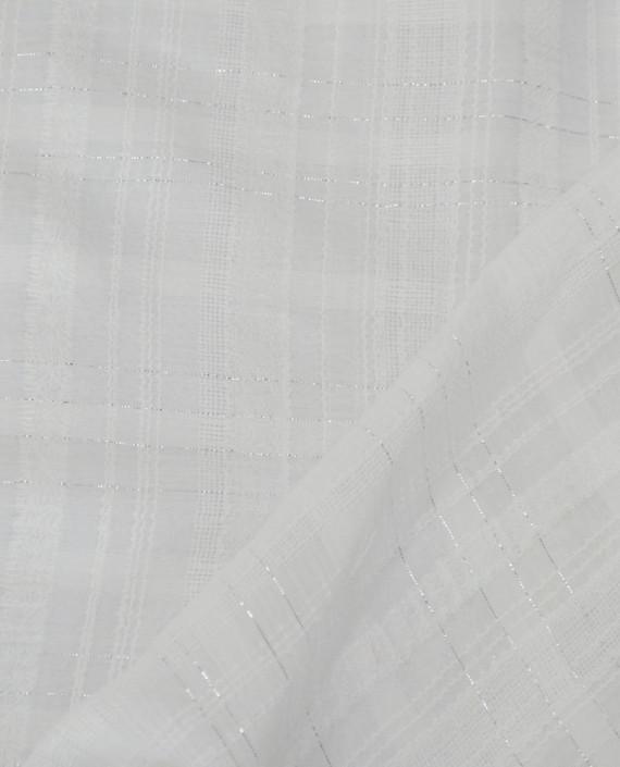 Ткань Хлопок Рубашечный 1501 цвет белый в полоску картинка 1