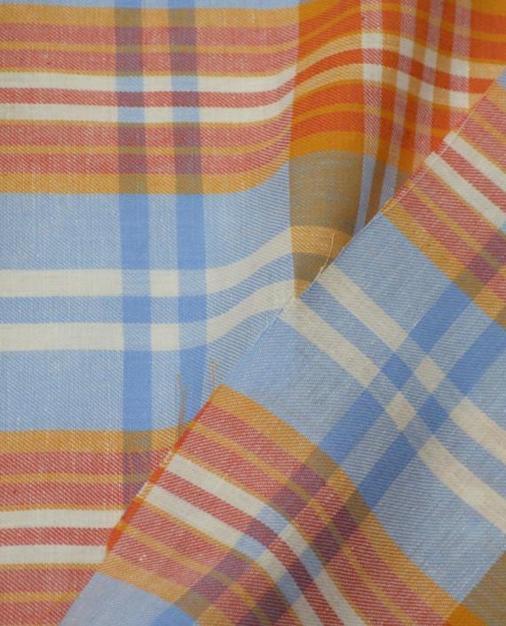 Ткань Хлопок Рубашечный 1552 цвет разноцветный в клетку картинка 2