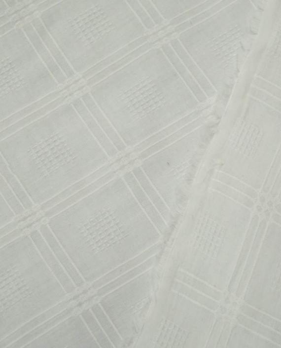 Ткань Хлопок Рубашечный 1657 цвет белый картинка 2