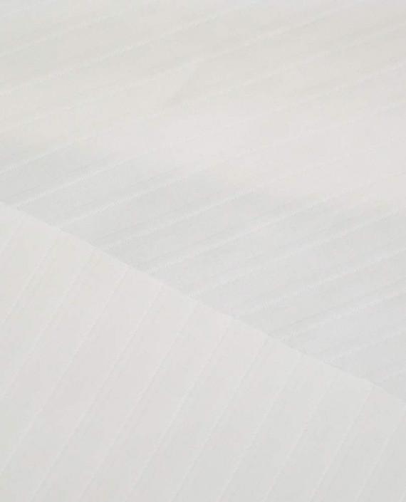 Ткань Хлопок Рубашечный 1698 цвет белый в полоску картинка 1