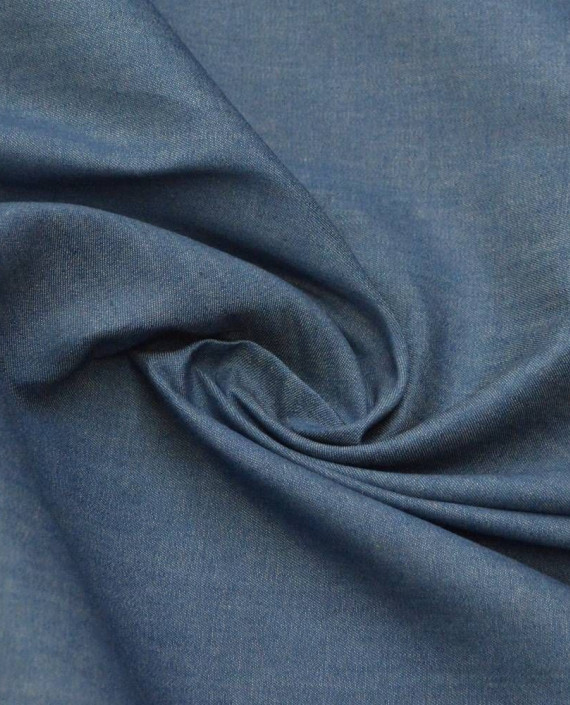 Ткань Хлопок Рубашечный 1822 цвет синий картинка