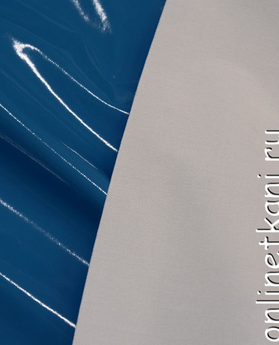 Искусственная кожа 020 цвет голубой картинка 2