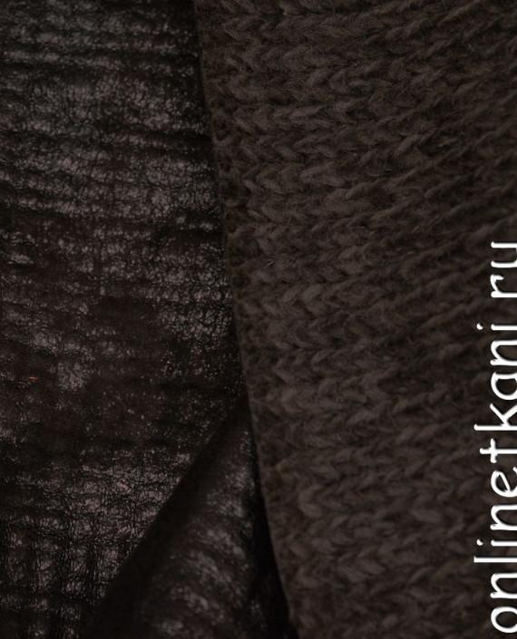 Искусственная кожа 028 цвет коричневый картинка 2