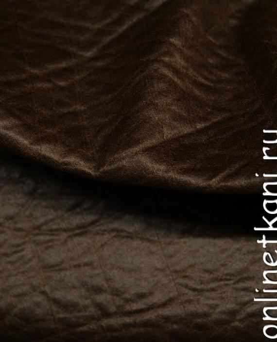 Искусственная кожа 042 цвет коричневый картинка 2