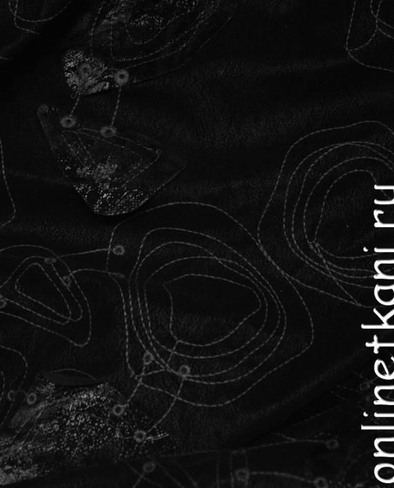 Искусственная кожа 073 цвет черный абстрактный картинка