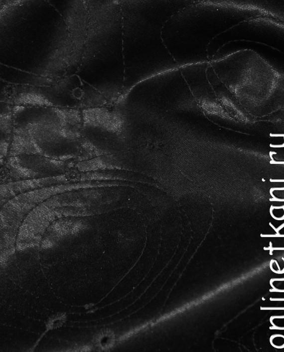 Искусственная кожа 073 цвет черный абстрактный картинка 2