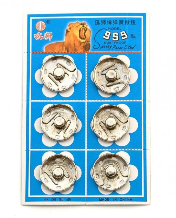 Кнопки пришивные 25 мм 011 цвет серебро картинка