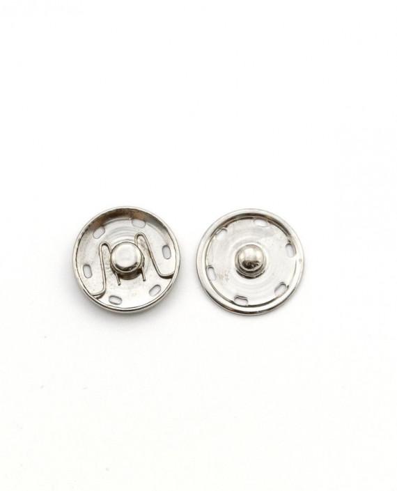 Кнопки пришивные 25 мм 011 цвет серебро картинка 2