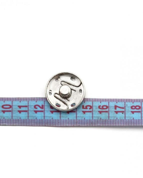 Кнопки пришивные 25 мм 011 цвет серебро картинка 1