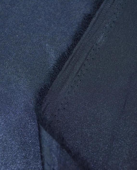 """Ткань Креп-сатин """"Джинсовый"""" 0010 цвет синий картинка 2"""