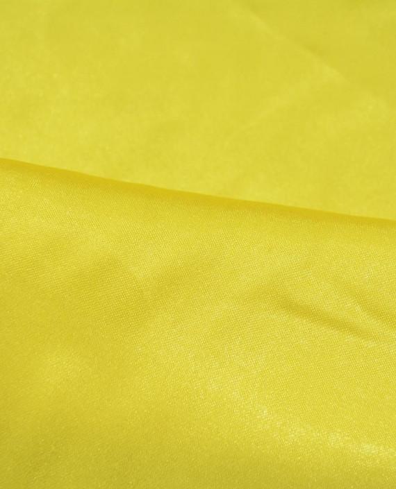 """Ткань Креп-сатин """"Желтый"""" 0008 цвет желтый картинка 1"""