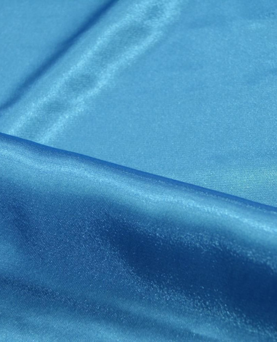 """Ткань Креп-сатин """"Лазурный"""" 0020 цвет голубой картинка 1"""
