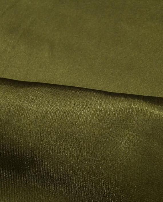 """Ткань Креп-сатин """"Хаки"""" 0042 цвет хаки картинка 1"""