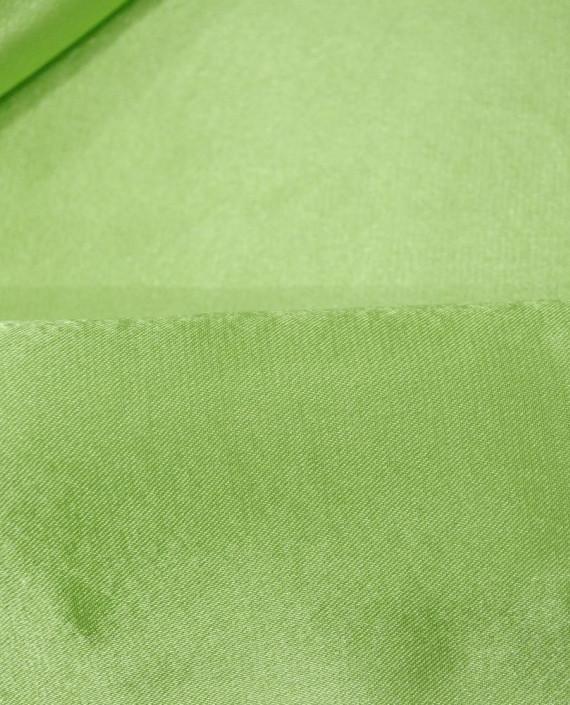"Ткань Креп-сатин ""Салатовый"" 0026 цвет зеленый картинка 1"