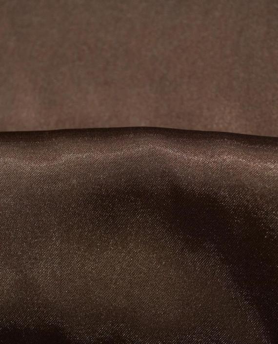 Ткань Креп-сатин 0023 цвет коричневый картинка 1