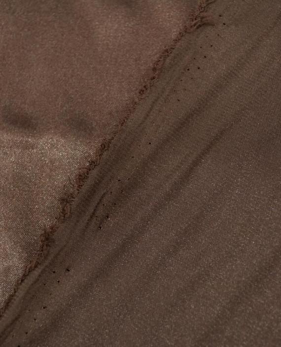 Ткань Креп-сатин 0023 цвет коричневый картинка 2
