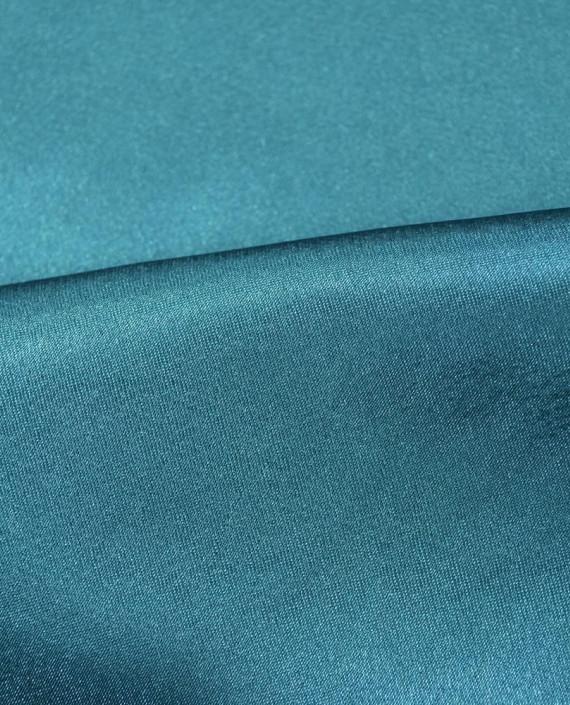 "Ткань Креп-сатин ""Зелено-Морской"" 0031 цвет бирюзовый картинка 1"